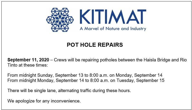 Pot Hole Repairs