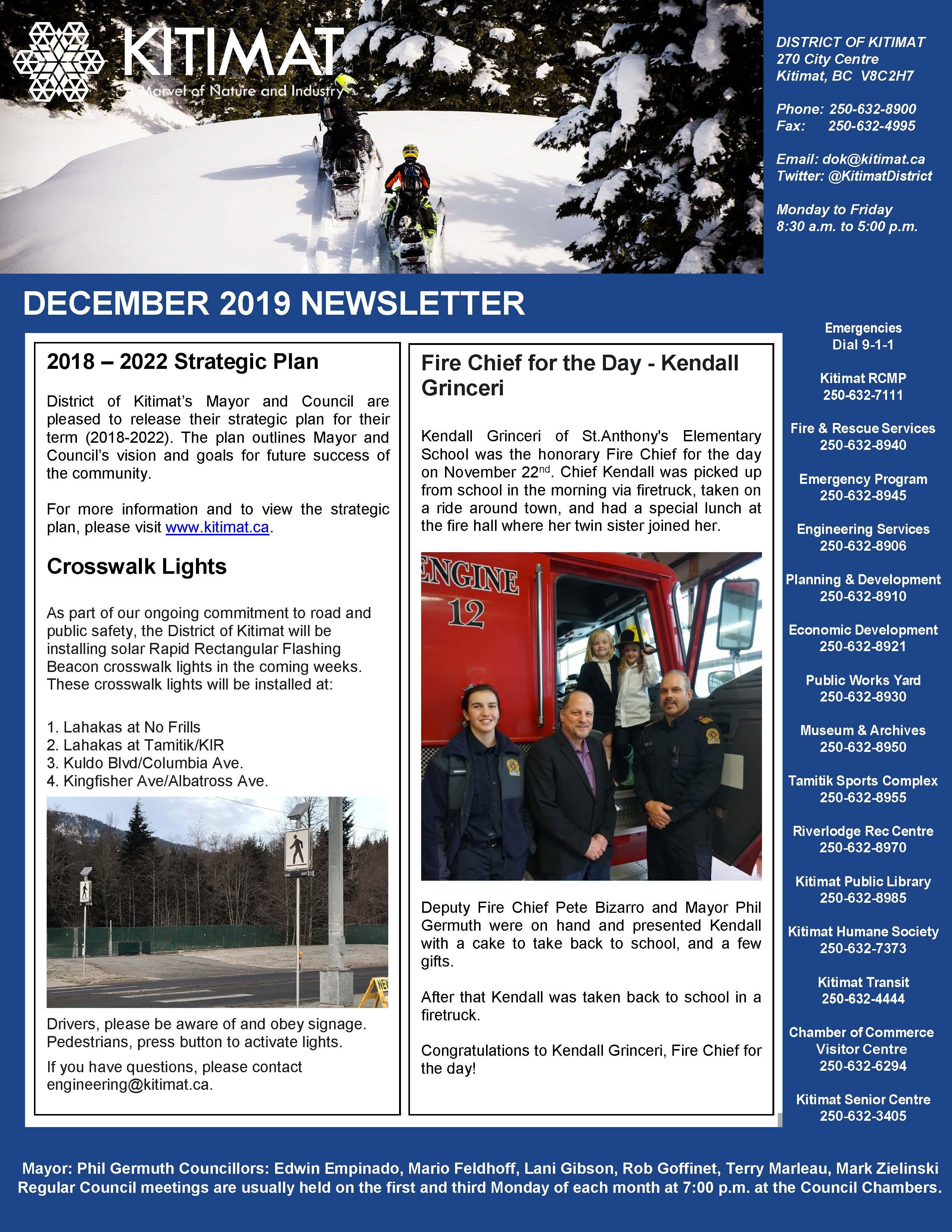 Dec 2019 DOK Newsletter, pg 1 of 2