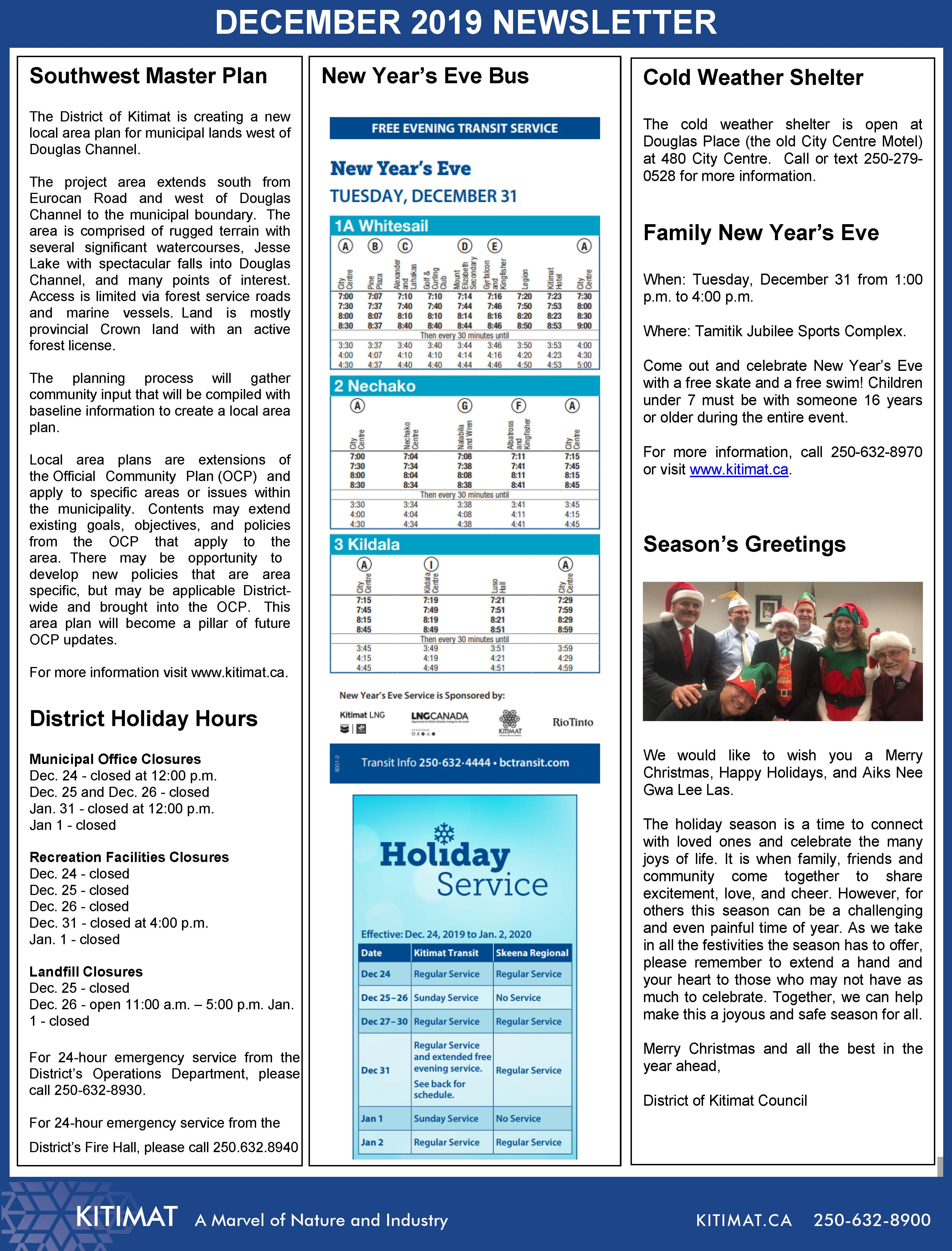 Dec 2019 DOK Newsletter, pg 2 of 2