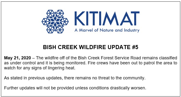 Bish Creek Wildfire Update #5