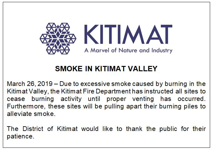 19-03-26 Smoke in Kitimat Valley