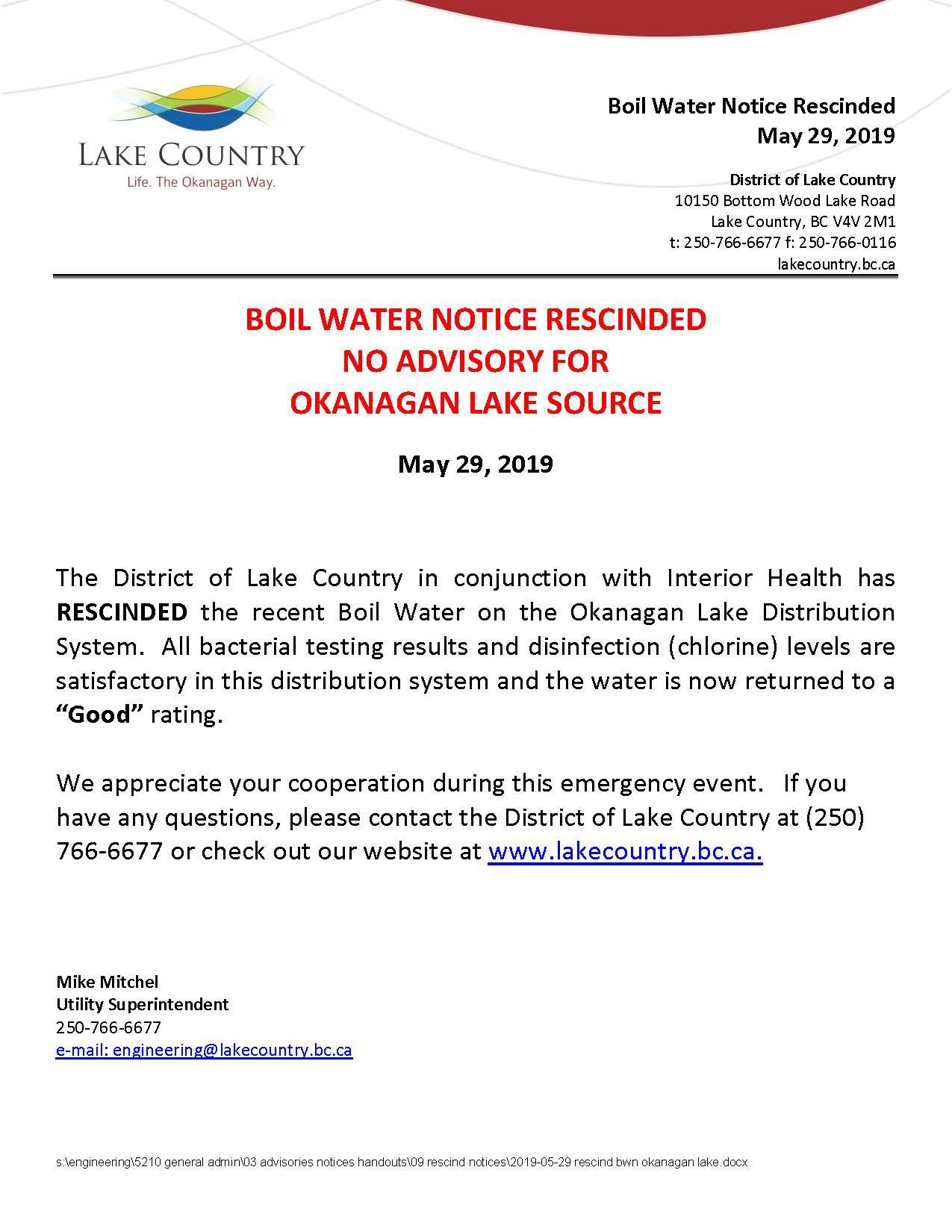 2019-05-29 Rescind BWN Okanagan Lake