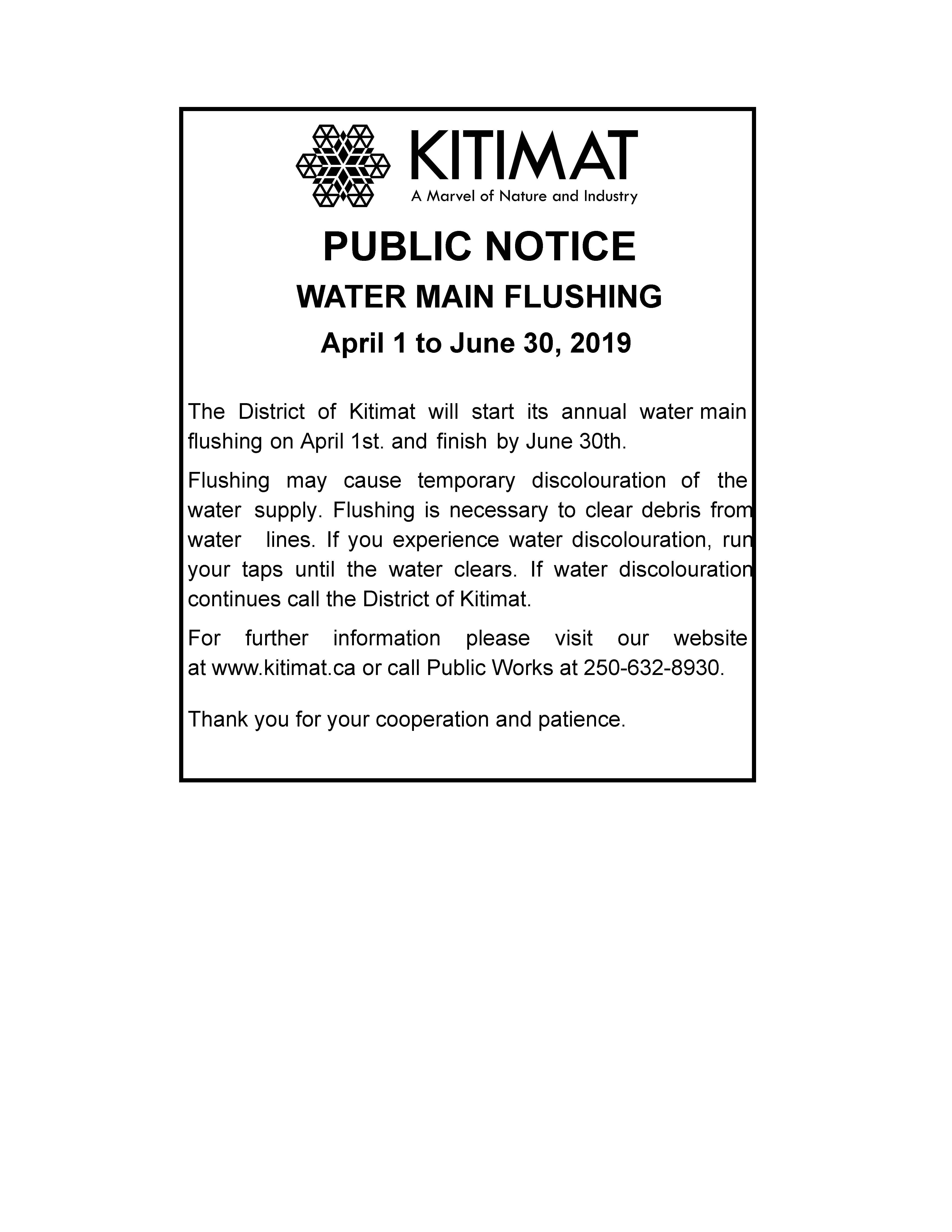 Water Main Flushing 2019