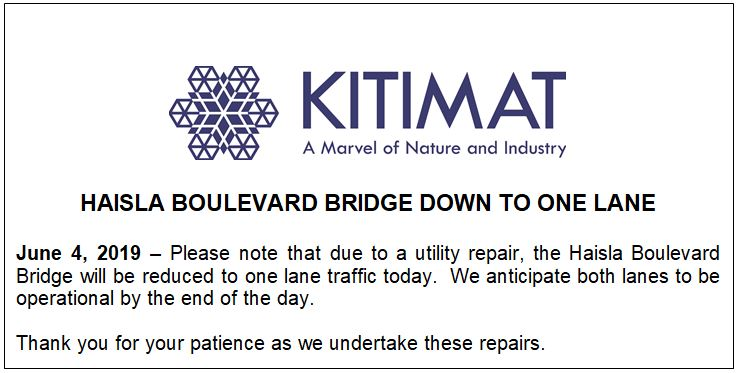 Bridge Repairs June 4 2019