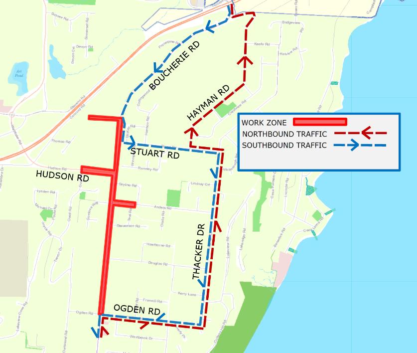 Boucherie Detour Map