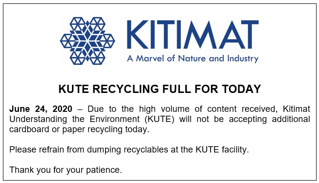 KUTE Recycling Full For Today