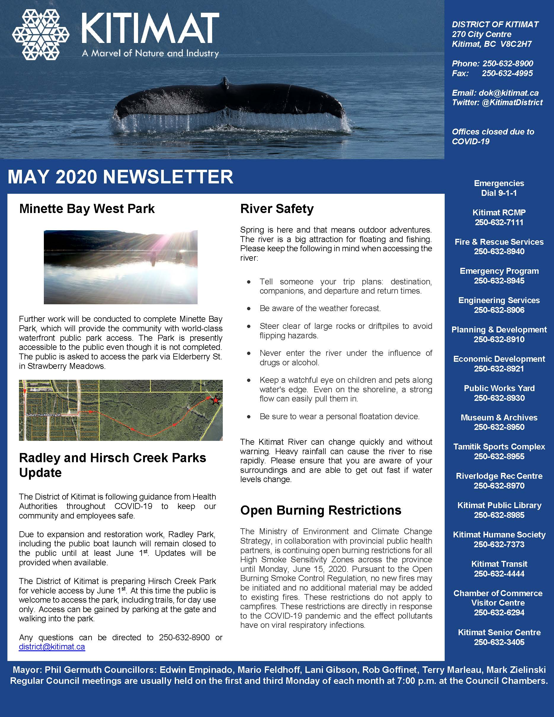May 2020 DOK Newsletter, page 1 of 2