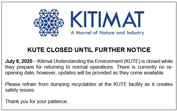 KUTE Closed Until Further Notice
