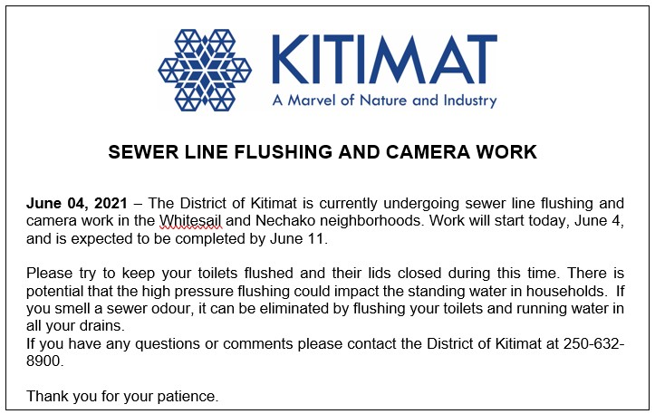 Sewer Line Flushing and Camera Work
