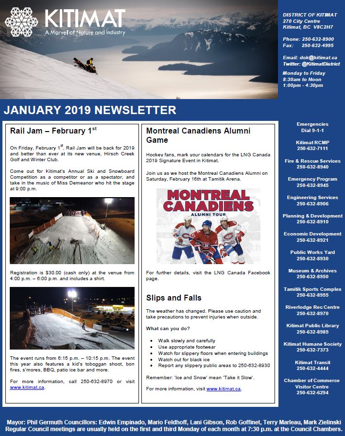 January 2019 DOK Newsletter, Pg 1 of 2