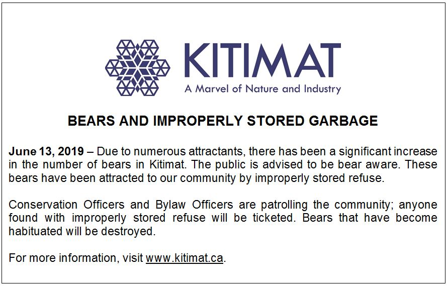 2019 06 13 Bears and Improperly Stored Garbage