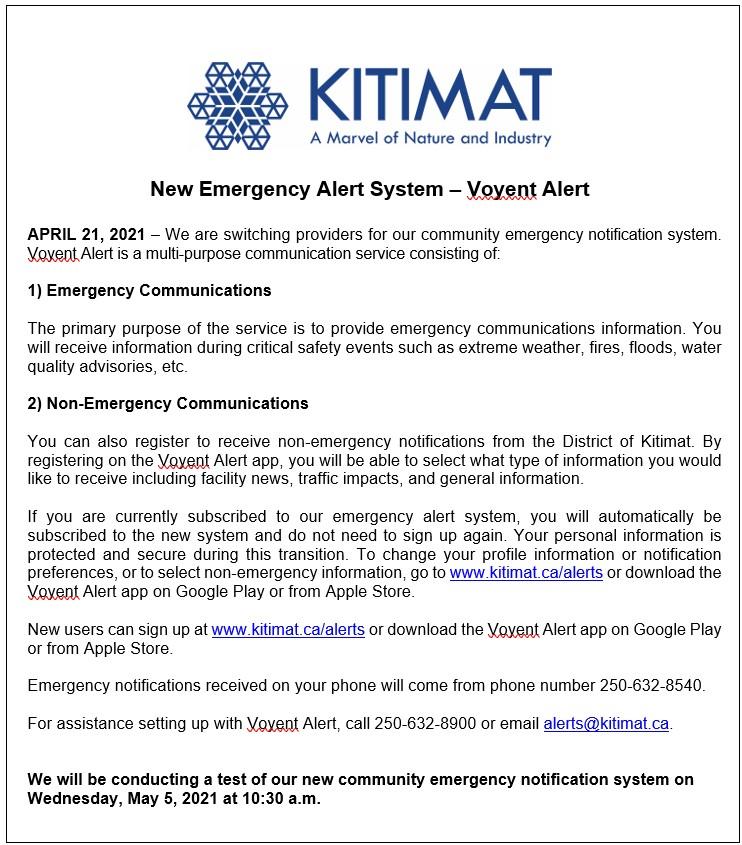 New Emergency Alert System - Voyent Alert