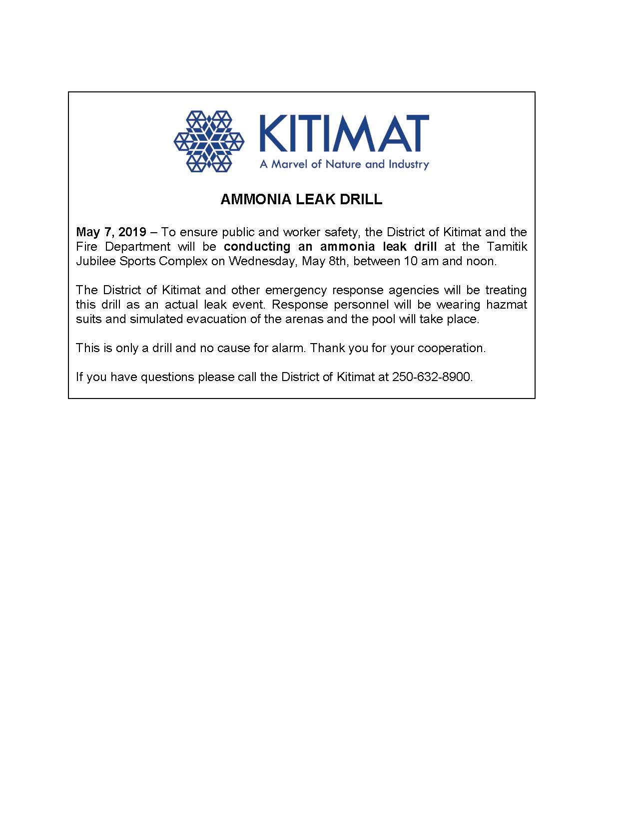 Ammonia Leak Drill