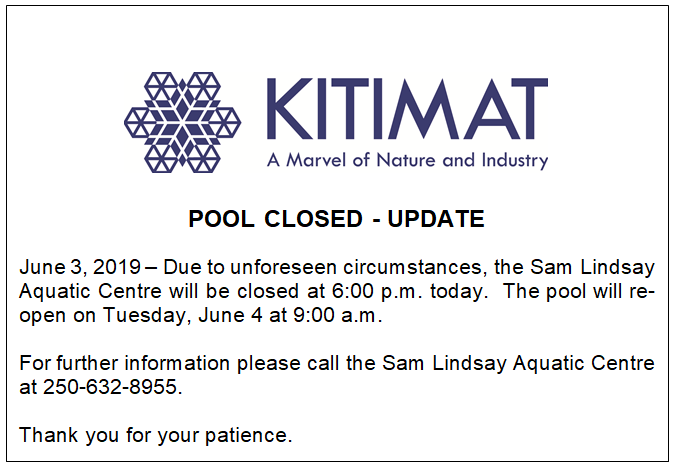 Pool Closure Update