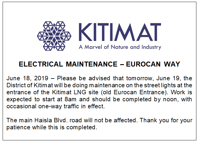 2019 06 18 Public Notice - Electrical Maintenance