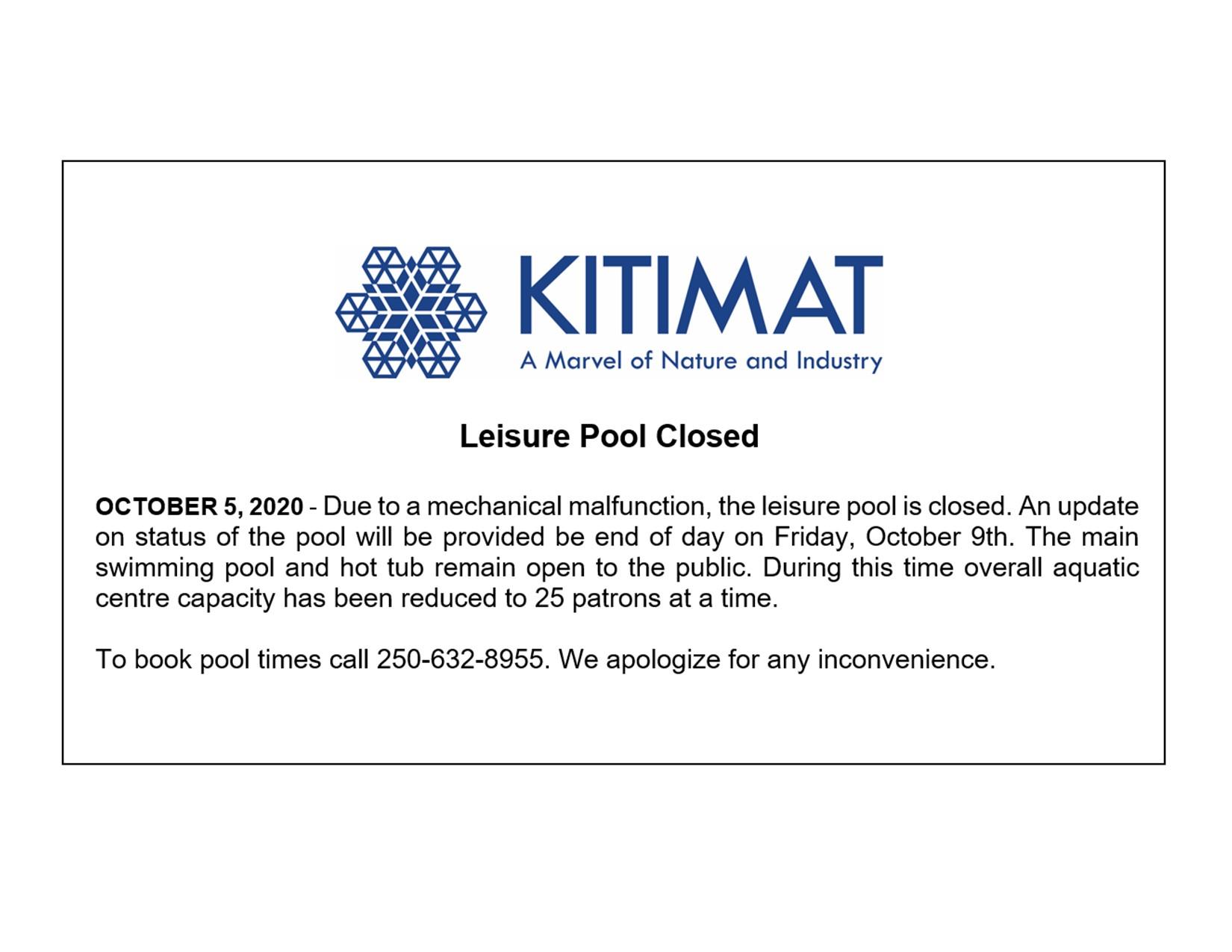 Leisure Pool Closed