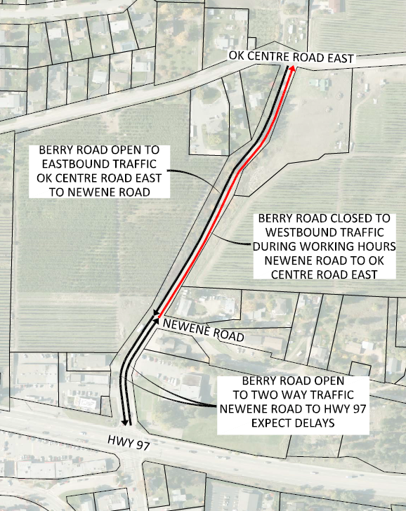 Berry Rd work map Aug 20-23 2019