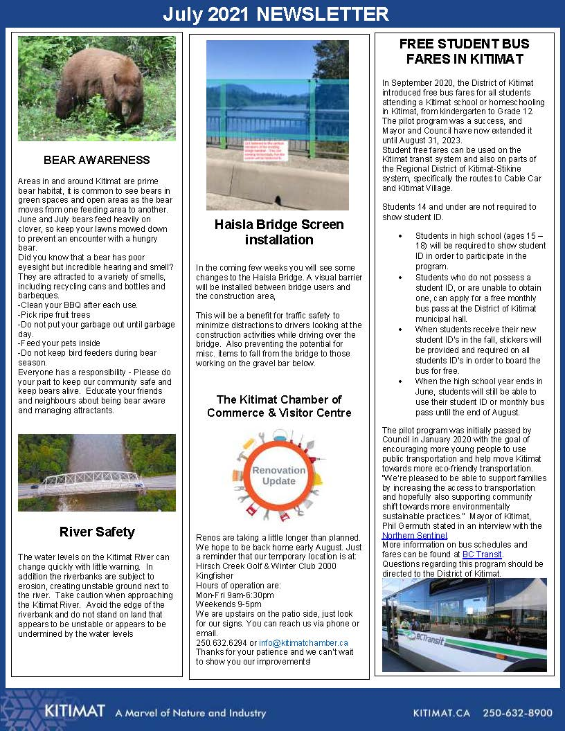 July 2021 Newsletter page 2