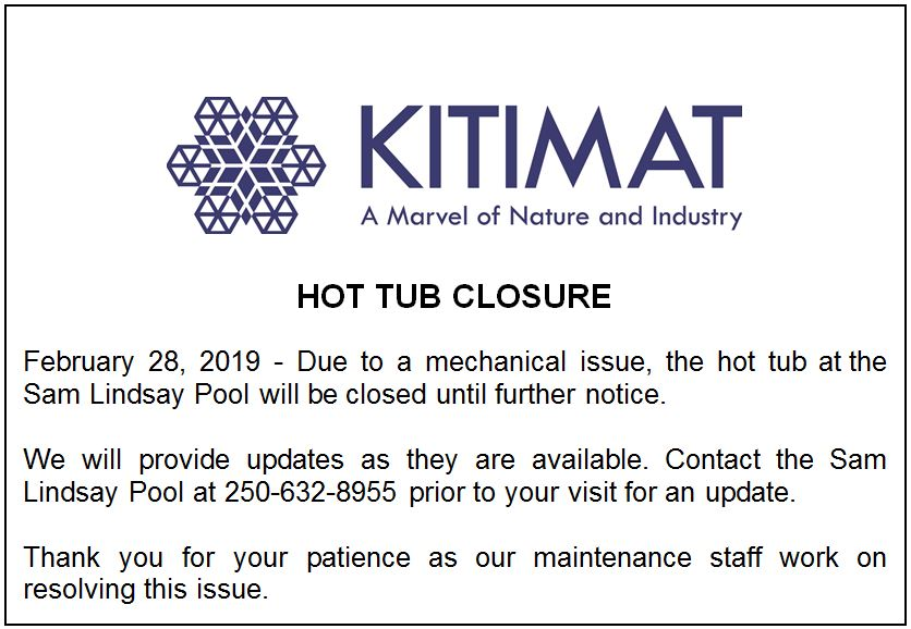 Hot Tub Out Of Service