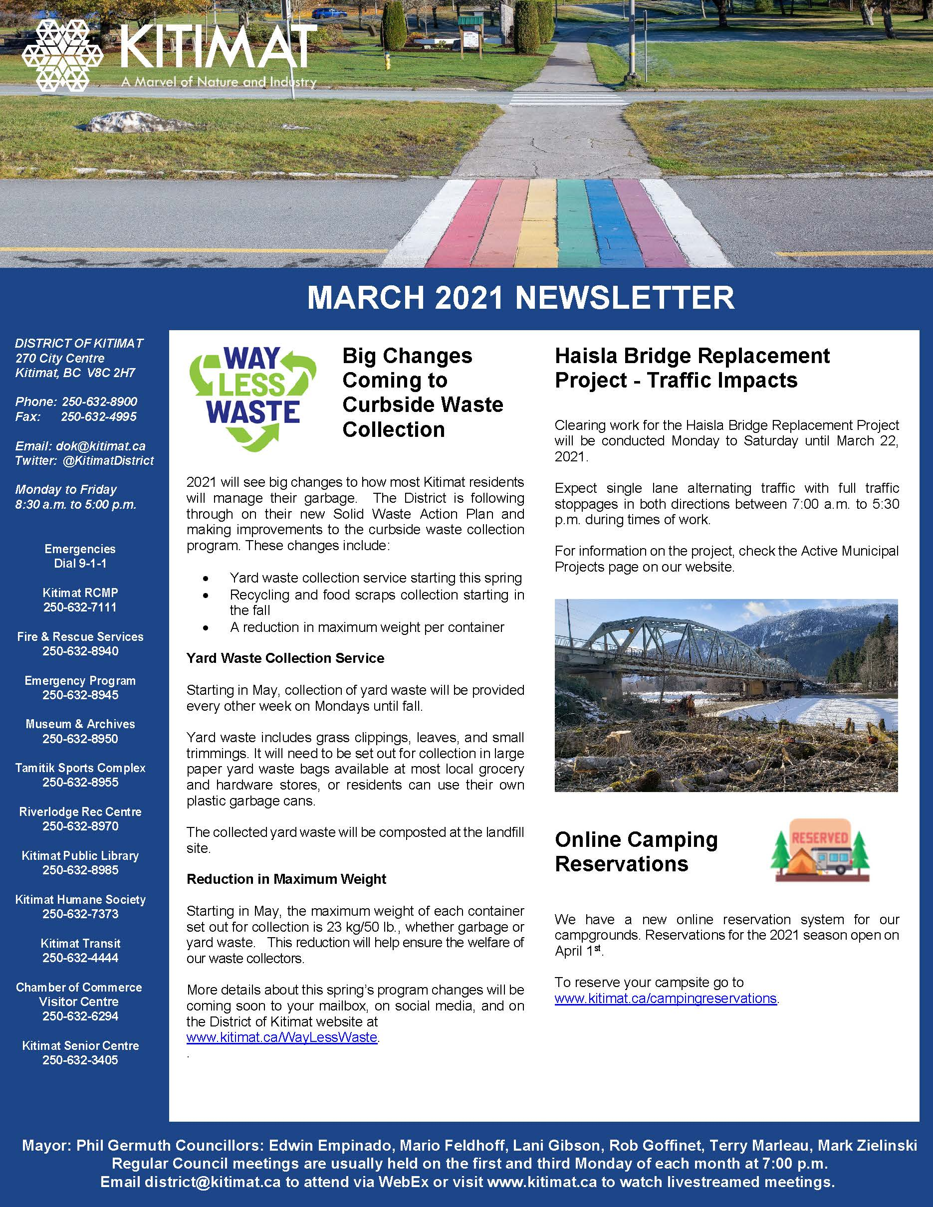 March 2021 DOK Newsletter page 1