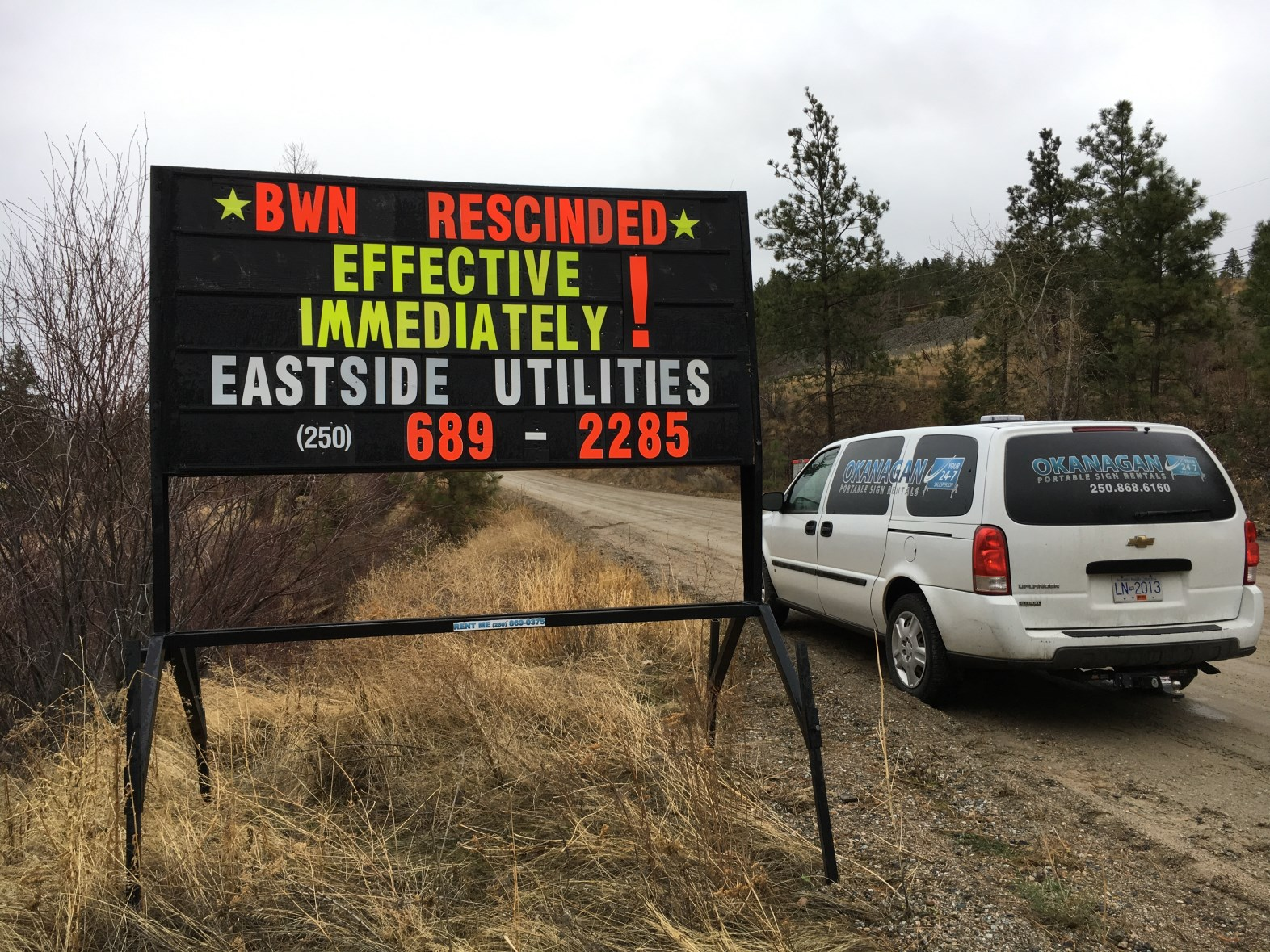 Eastside Water Utility BWN Rescinded Nov 27 2017