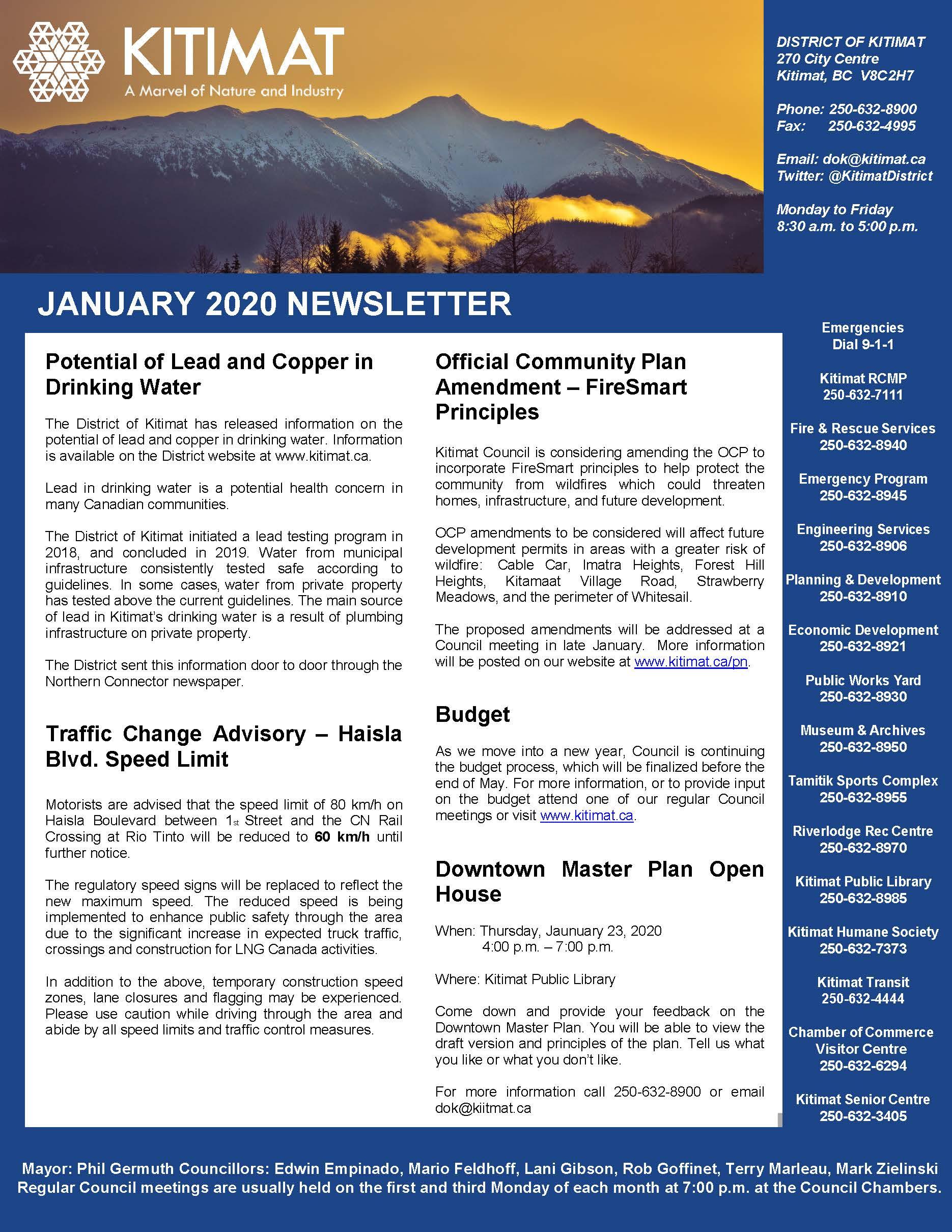 January 2020 DOK Newsletter pg 1 of 2