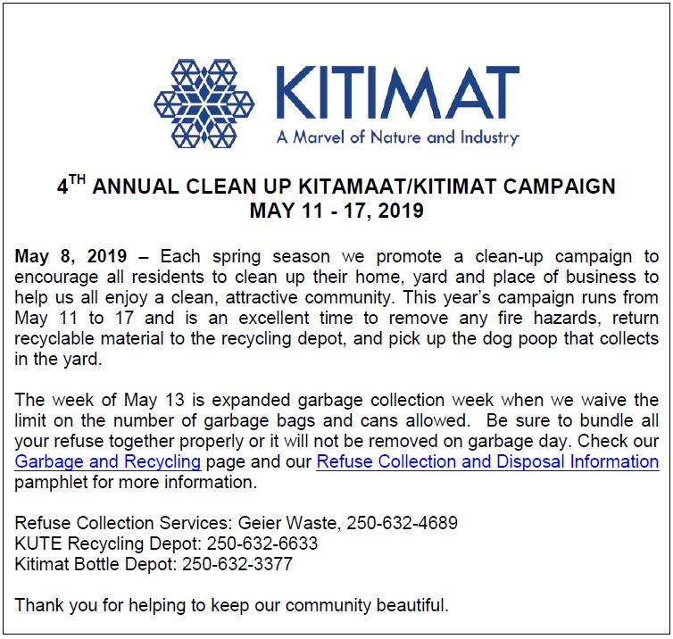 2019 Clean Up Campaign