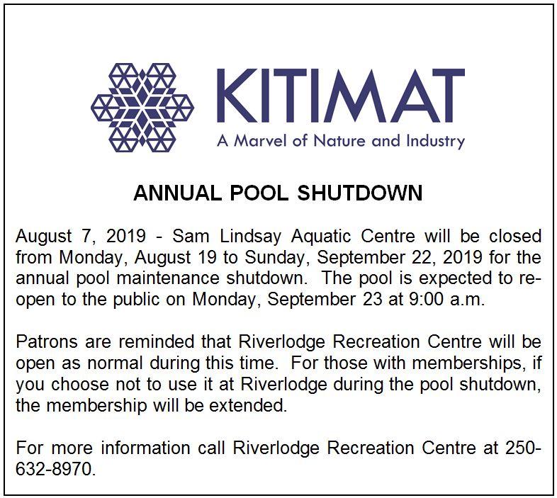 Pool Shutdown 2019