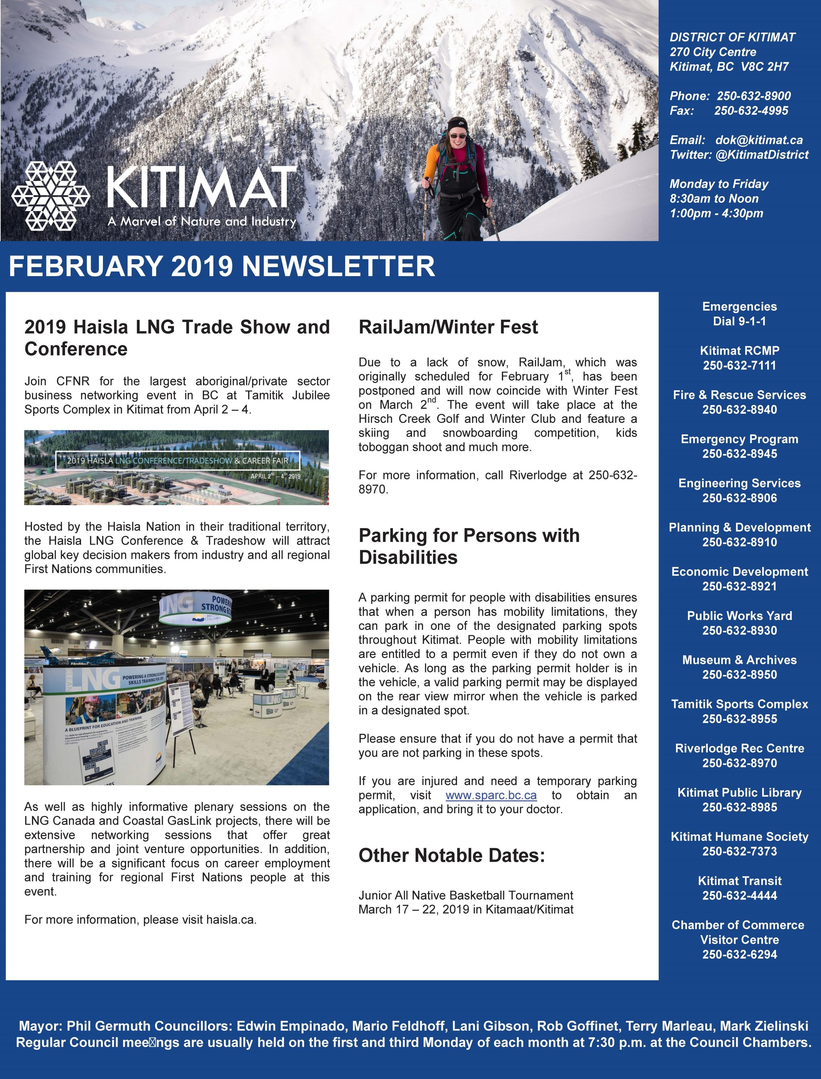 Feb 2019 DOK Newsletter, Pg 1