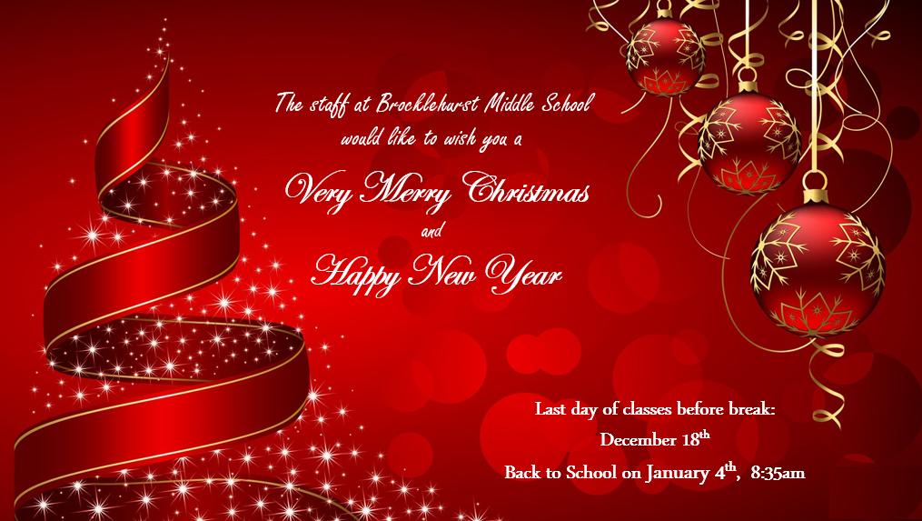 Christmas Break Message for website