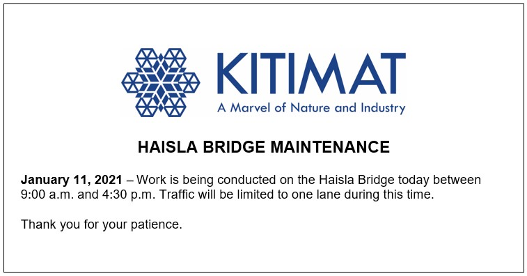 Haisla Bridge Maintenance