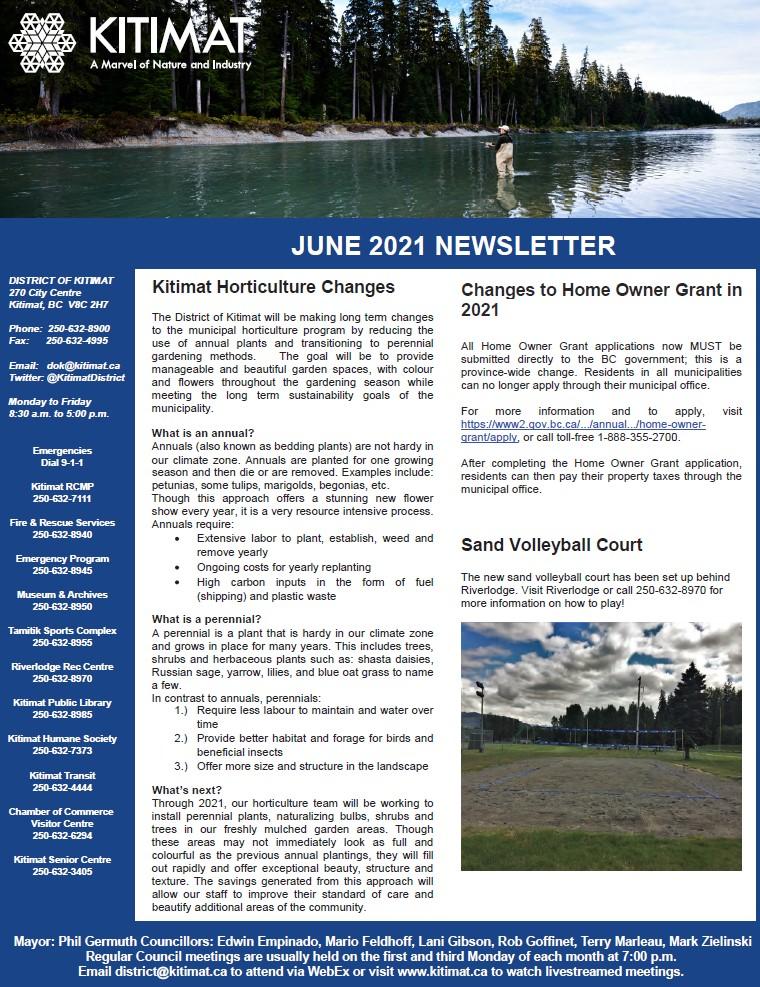 June 2021 DOK Newsletter, pg 1 of 2