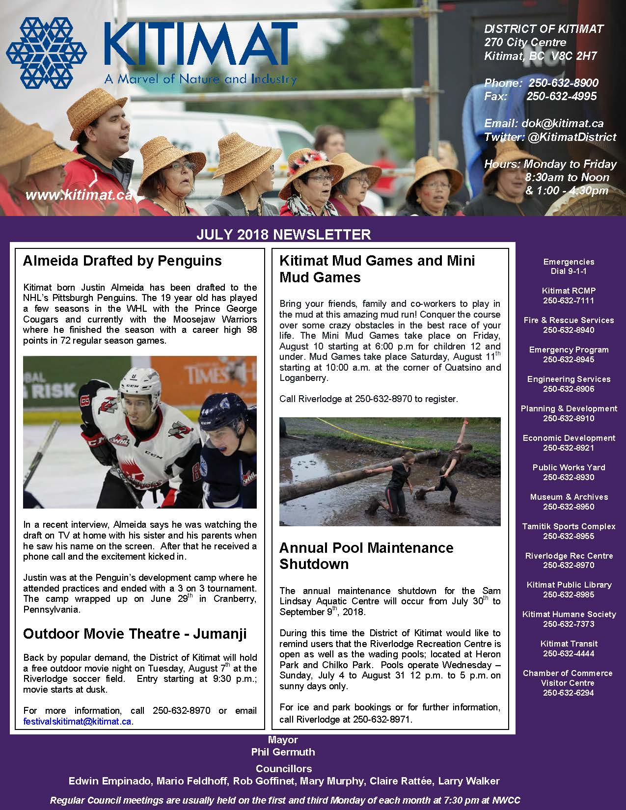 July 2018 DOK Newsletter Pg 1 of 2