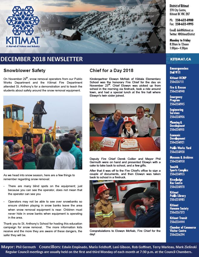December 2018 DOK Newsletter, Pg 1 of 2
