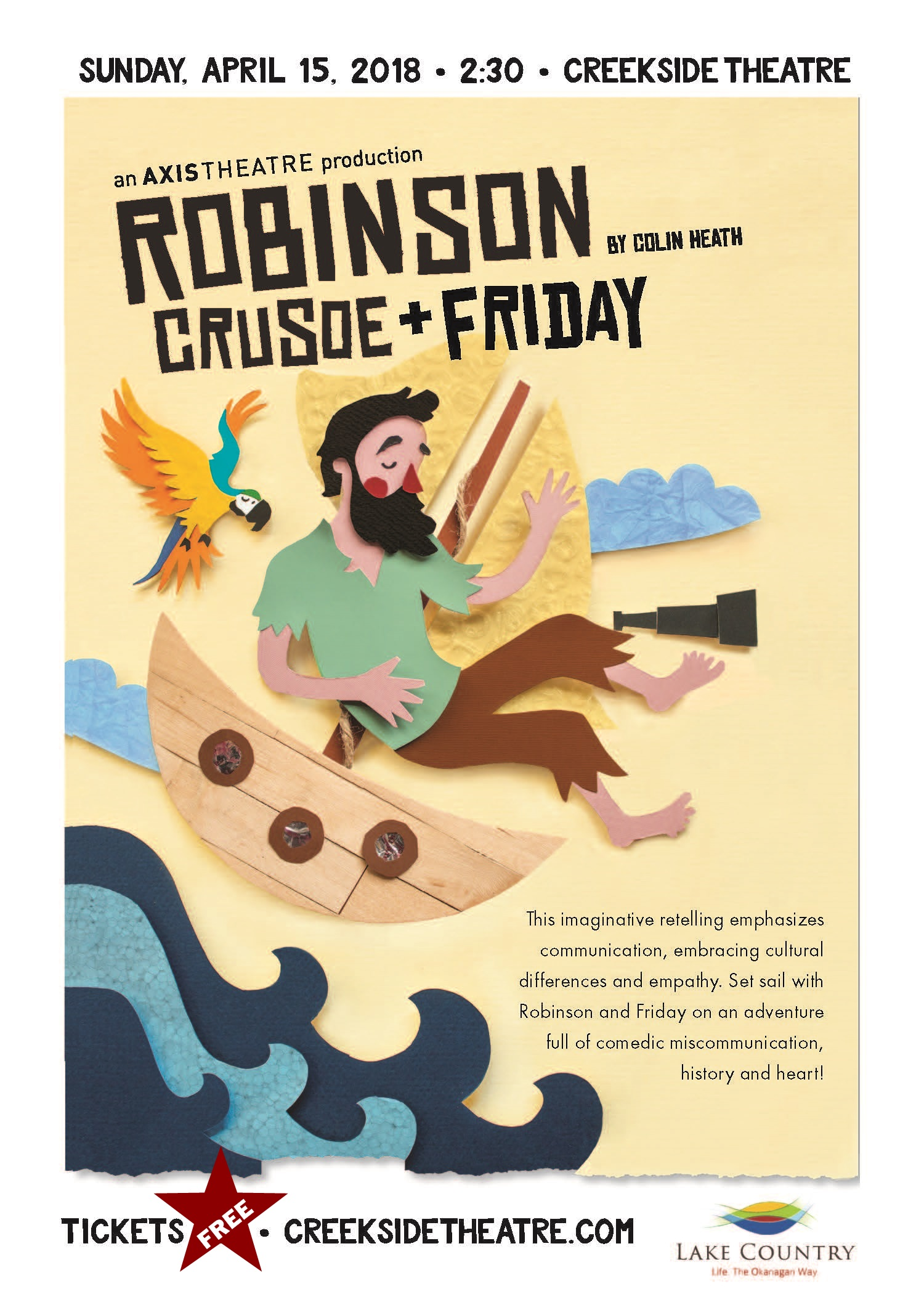 Robinson Crusoe handbill updated with FREE
