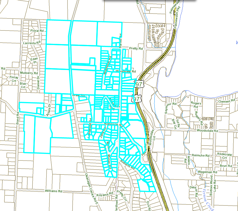 Davidson Road water outage map September 24