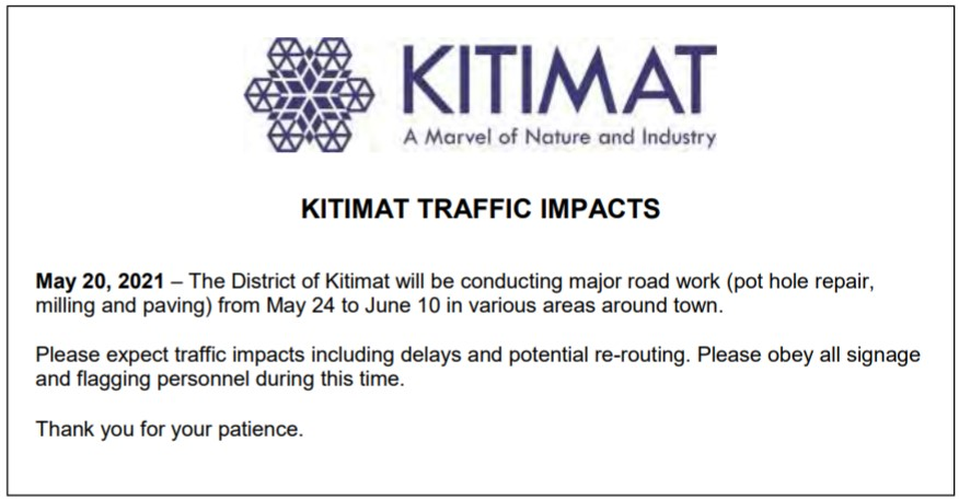 Hirsch Creek Bridge Traffic Interruption