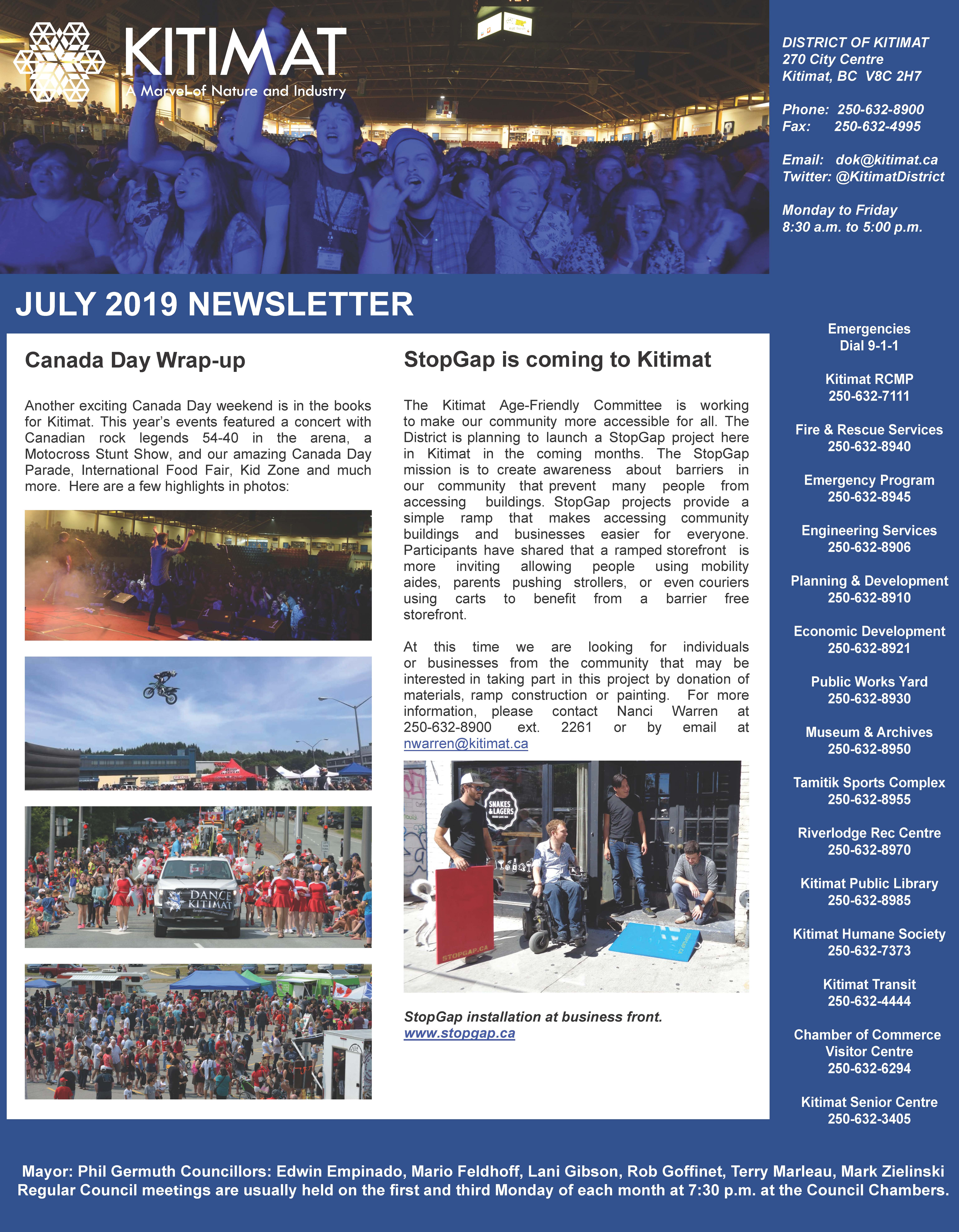 July 2019 DOK Newsletter page 1