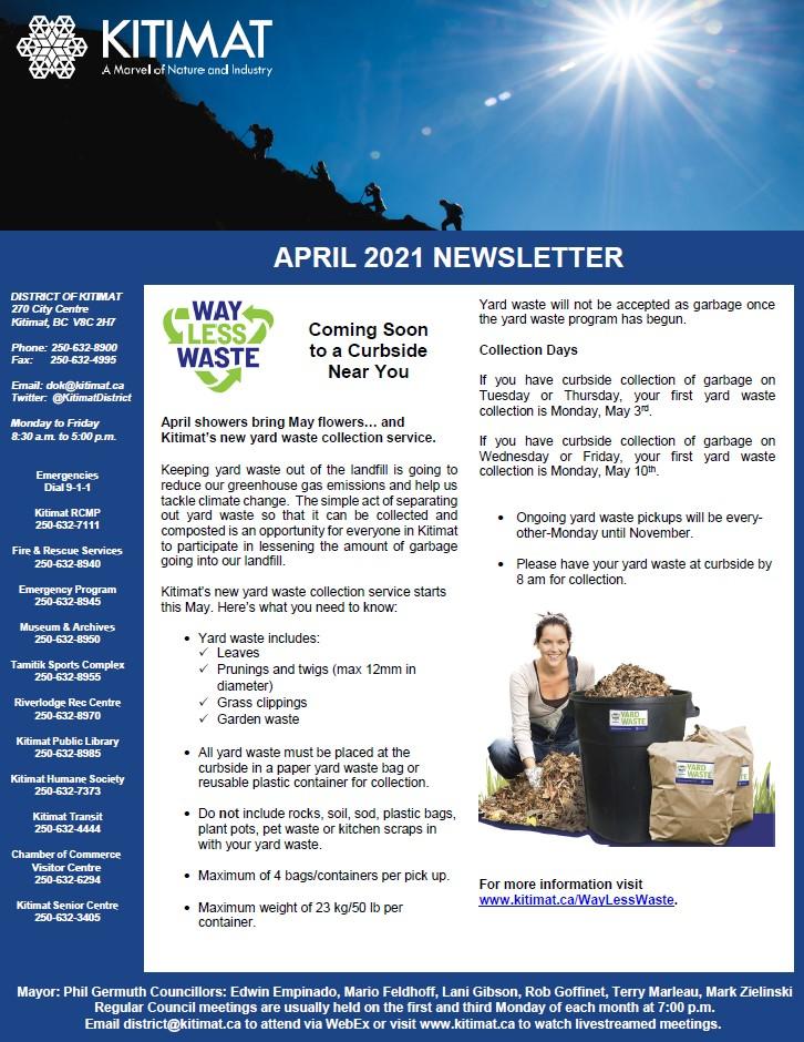 April 2021 DOK Newsletter, pg 1 of 2