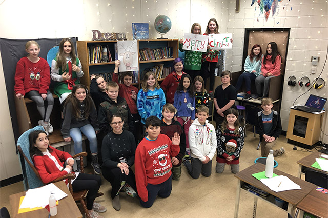 Christy Gauley's grade 5 and 6 class at Rayleigh Elementary are among students from across the District who made cards for seniors this holiday season