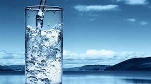 clean glass of water and lake (002)