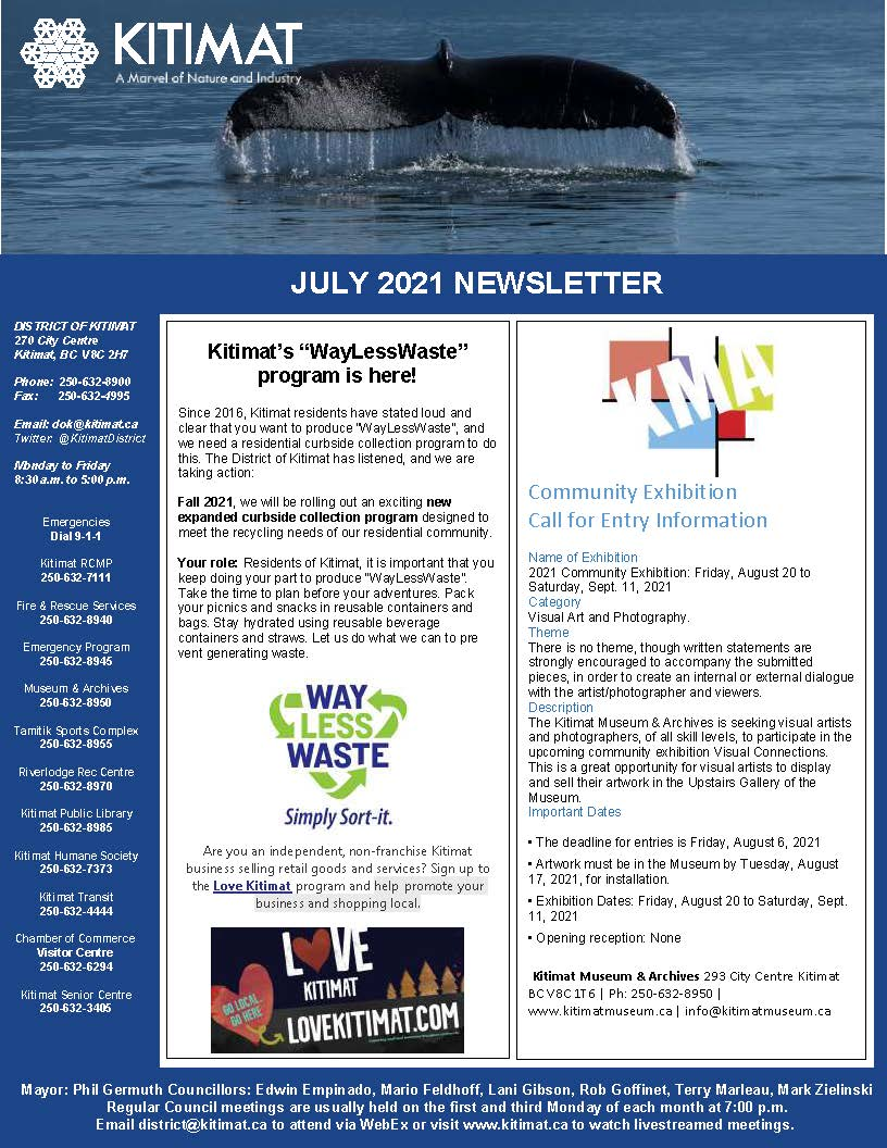 July 2021 Newsletter page 1