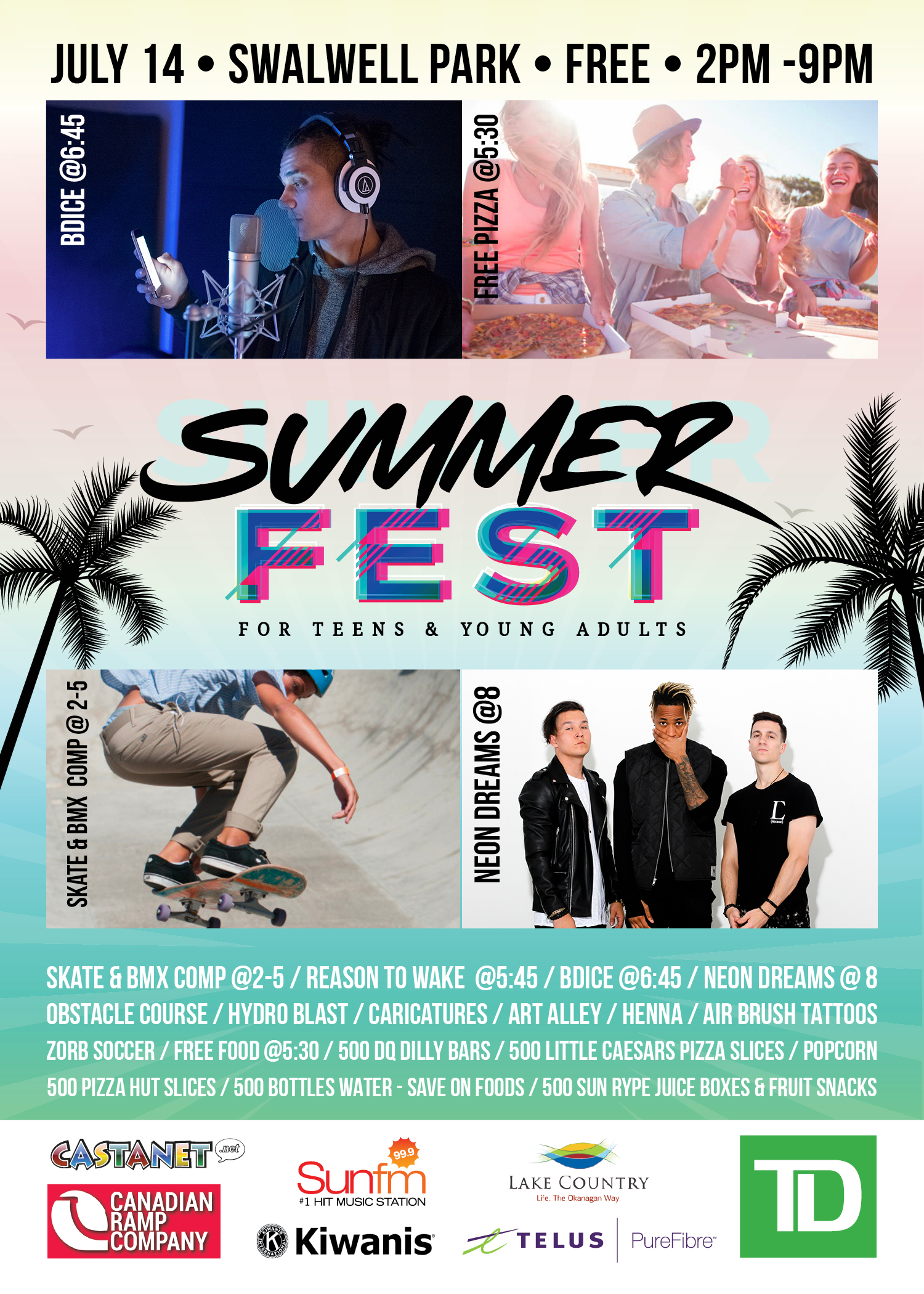 SummerFest handbill side 1