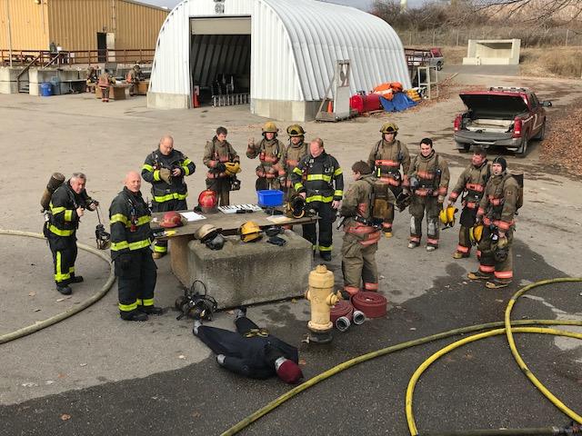 Live Fire Burn Building training