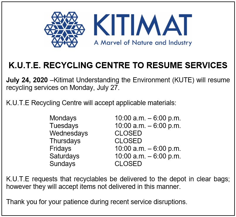 KUTE Recycling Centre to Resume Services