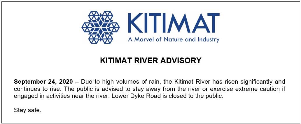 Kitimat River Advisory